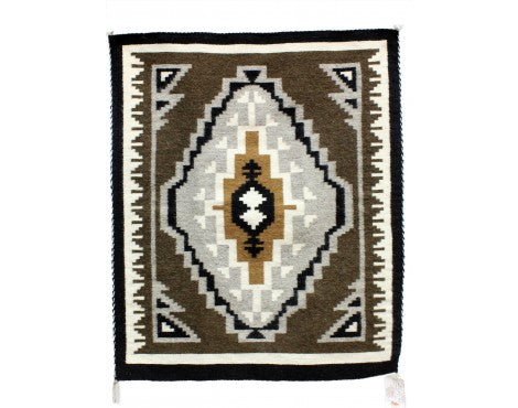 Germoine Begay, Two Grey Hills, Navajo Handwoven, 33