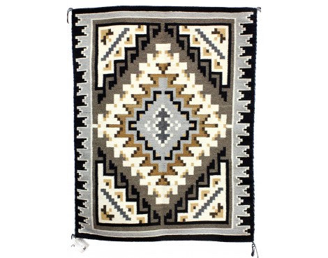 Shirley Ned, Two Grey Hills, Navajo Handwoven, 32 1/2