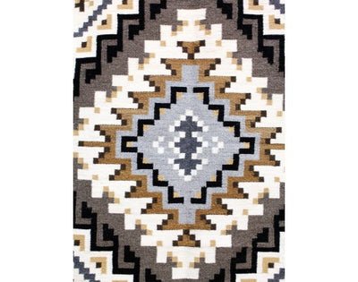 "Load image into Gallery viewer, Shirley Ned, Two Grey Hills, Navajo Handwoven, 32 1/2"" x 40"""