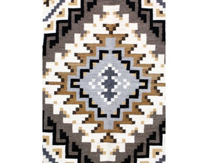"Shirley Ned, Two Grey Hills, Navajo Handwoven, 32 1/2"" x 40"""