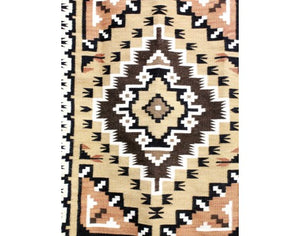 "Larry Nathaniel, Two Grey Hills, Navajo Handwoven, 23"" x 35 1/2"""