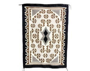 "Margaret Yazzie, Two Grey Hills, Navajo Handwoven, 26 1/2"" x 40 1/2"""