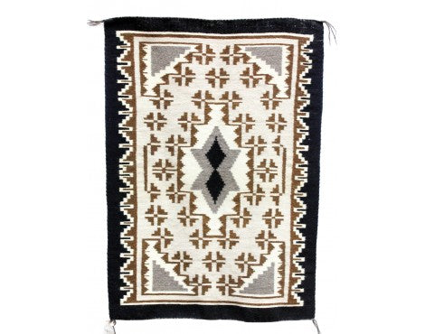 Margaret Yazzie, Two Grey Hills, Navajo Handwoven, 26 1/2