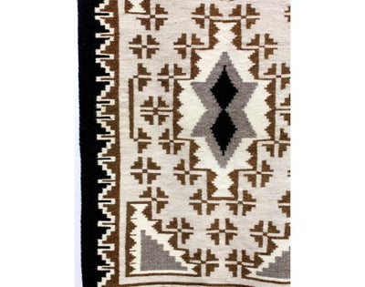 "Load image into Gallery viewer, Margaret Yazzie, Two Grey Hills, Navajo Handwoven, 26 1/2"" x 40 1/2"""