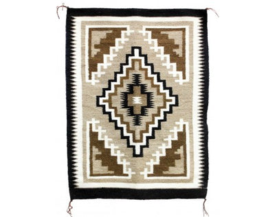"Load image into Gallery viewer, Lucy Simpson, Two Grey Hills, Navajo Handwoven, 25"" x 36"""