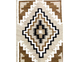 "Lucy Simpson, Two Grey Hills, Navajo Handwoven, 25"" x 36"""