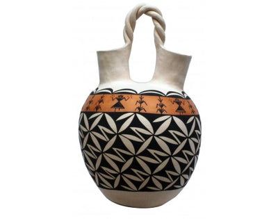 Load image into Gallery viewer, N. Mansfield, Acoma, Hand Coiled Pottery, 18'' X 12''
