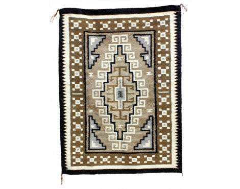 Lucy Simpson, Two Grey Hills, Navajo Handwoven, 42