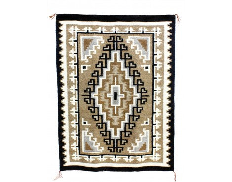Lucy Simpson, Two Grey Hills, Navajo Handwoven, 42 1/2