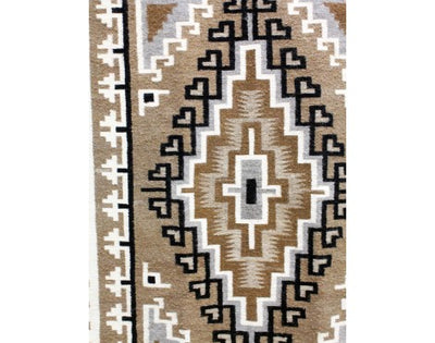 "Load image into Gallery viewer, Lucy Simpson, Two Grey Hills, Navajo Handwoven, 42 1/2"" x 63"""