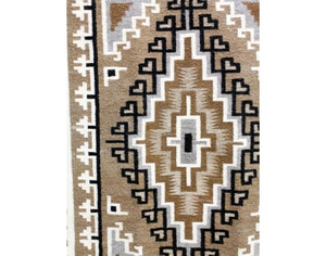 "Lucy Simpson, Two Grey Hills, Navajo Handwoven, 42 1/2"" x 63"""