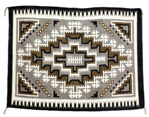 "Lucy Simpson, Two Grey Hills, Navajo Handwoven, 43"" X 63 1/2"""