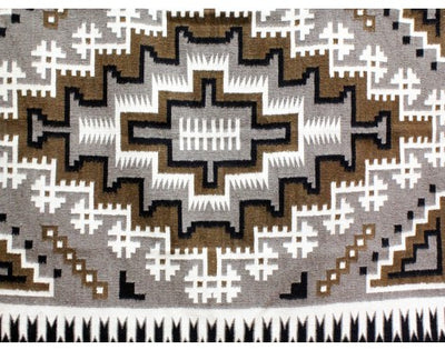 "Load image into Gallery viewer, Lucy Simpson, Two Grey Hills, Navajo Handwoven, 43"" X 63 1/2"""
