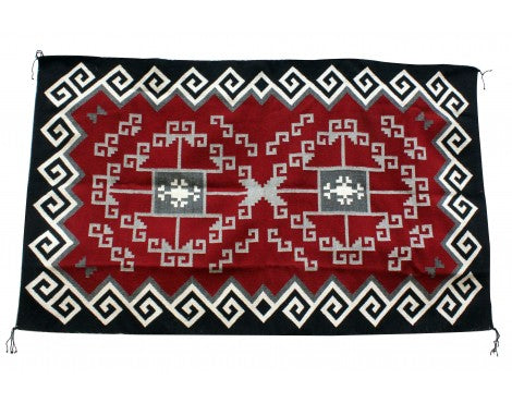 Alfeida James, Ganado Red, Navajo Handwoven Rug, 70'' x 41''