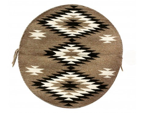 Rose Gorman, Circular Eye Dazzler Rug, Navajo Handwoven, 22in