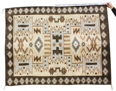 Load image into Gallery viewer, Charlene Begay, Eye Dazzler, Large, Navajo Handwoven Rug, 75 in x 57 in