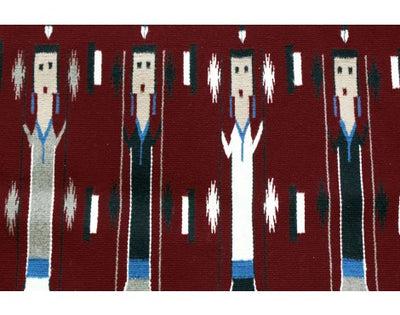 Load image into Gallery viewer, Bessie Yazzie, Yei Rug, Navajo Handwoven, 28 in x 68 in
