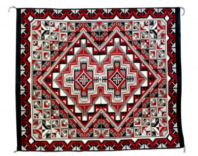 "Load image into Gallery viewer, Joe Van Winkle, Ganado Red, Navajo Handwoven, 50""x 66 1/2"""