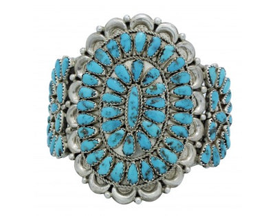 Load image into Gallery viewer, Justin Wilson, Bracelet, Cluster, Sleeping Beauty Turquoise, Navajo Made, 7 in