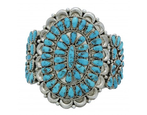 Justin Wilson, Bracelet, Cluster, Sleeping Beauty Turquoise, Navajo Made, 7 in