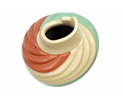Load image into Gallery viewer, Emma Yepa, Jemez, Pueblo Swirl Pottery, Contemporary, Jar, 8'' x 5 1/2''
