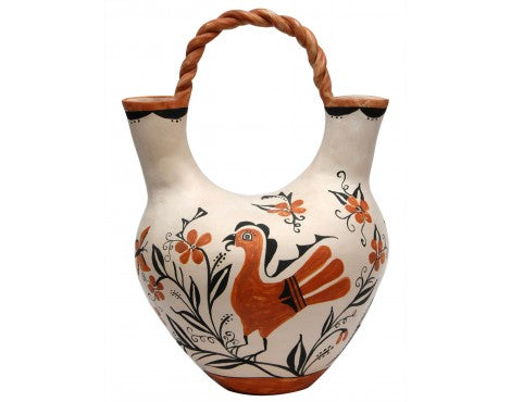 Victoria Garcia, Acoma Pottery, Bird Design, Wedding Vase, 15
