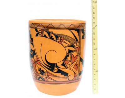 "Load image into Gallery viewer, Alta Yesslith, Hopi Pottery, Large Jar, Parrot Design, 15"" x 10 1/2"""