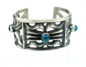 "Aaron Anderson, Cast Silver, Persian Turquoise ""Three in One"" Bracelet"
