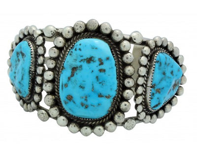 Load image into Gallery viewer, Robert, Bernice Leekya, Bracelet, Sleeping Beauty Turquoise, Navajo Made, 6.75in
