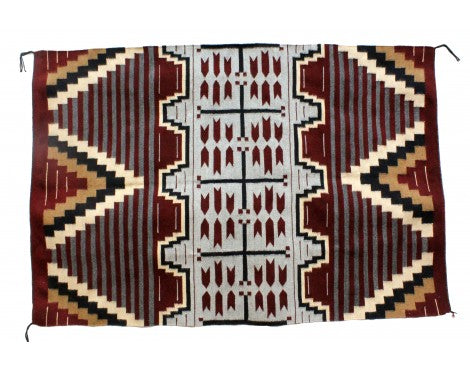 Donald Yazzie, Navajo Chief Blanket, Handwoven, 47'' x 70''