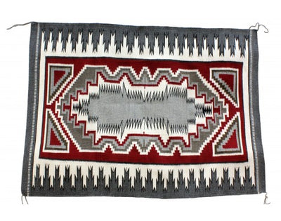 Load image into Gallery viewer, Carol Yazzie, Ganado Red Rug, Navajo Handwoven, 36'' x 49''