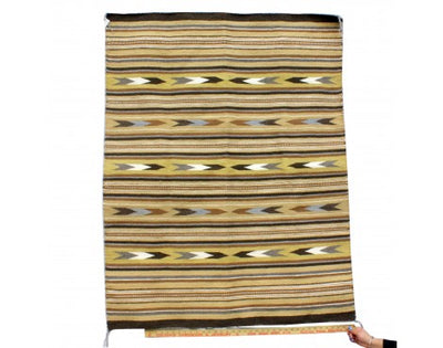 Load image into Gallery viewer, Rose Tsinaginnie, Wide Ruins, Navajo Handwoven Rug, 56'' x 43''