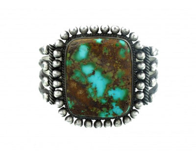 Load image into Gallery viewer, Edison Sandy Smith, Silver and Turquoise Large Cuff