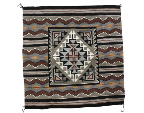Marie Yazzie, New Lands Rug, Navajo Handwoven, 54 in x 54 in