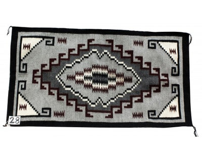 Load image into Gallery viewer, Marie Denny, Klagetoh Rug, Navajo Handwoven, 47 in x 25.5 in