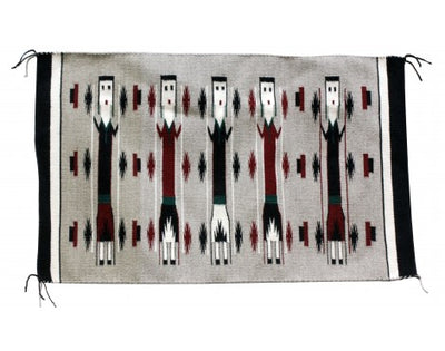 Load image into Gallery viewer, Bessie Yazzie, Yei Rug, Navajo Handwoven, 40 in x 25 in