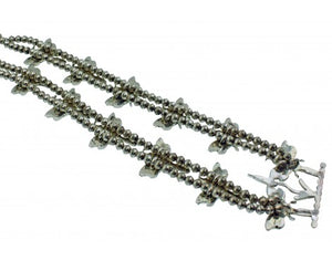 T Pinto, Andrea Lonjose, Dragonfly Necklace, Multistone, Silver, Zuni Made, 28''