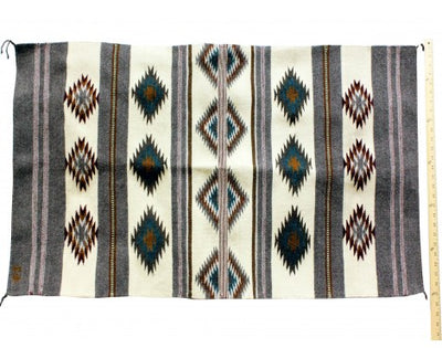 "Load image into Gallery viewer, Stella Wilson, Wide Ruins Rug, Navajo Handwoven, 26 1/2""x 49"""