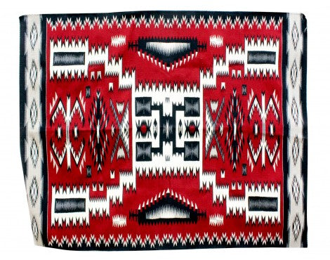 Lorraine Tso, Red Storm Pattern Rug, Navajo Handwoven, 60
