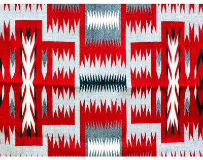 "Load image into Gallery viewer, Gabriel Bennally, Ganado Red Storm Pattern, Navajo Handwoven, 56""x 88"""