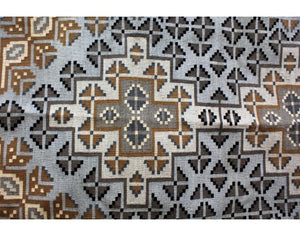 Mary Yazzie, Two Grey Hills Rug, Navajo Handwoven, 52'' x 92''
