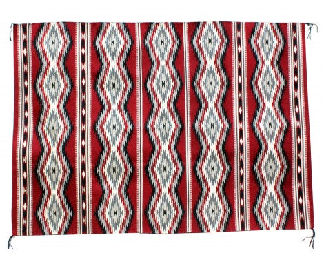 Donald Wood, Eye Dazzler Rug, Navajo Handwoven, 45