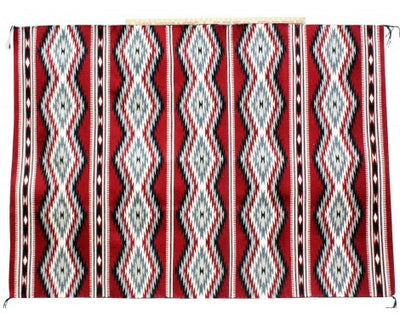 "Load image into Gallery viewer, Donald Wood, Eye Dazzler Rug, Navajo Handwoven, 45""x 74"""