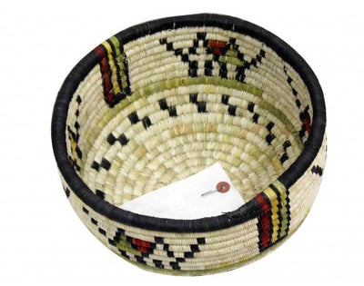 "Load image into Gallery viewer, Gladys Kagenveama, Hopi Coil Basket, Hopi Design, 7"" x 10.5"""