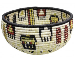 "Gladys Kagenveama, Hopi Coil Basket, Corn with Hair, 8"" x 13"""