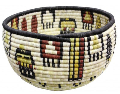 "Load image into Gallery viewer, Gladys Kagenveama, Hopi Coil Basket, Corn with Hair, 8"" x 13"""