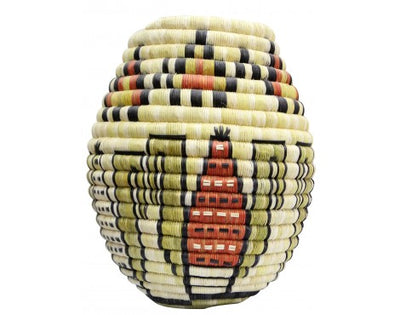 "Load image into Gallery viewer, Rhetta Lou Adams, Hopi Coil Basket, Corn, Arrowheads, 11"" x 10"""