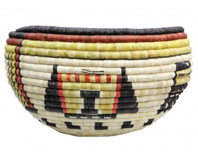 "Load image into Gallery viewer, Gladys Kagenveama, Hopi Coil Basket, Maidens, Crow Woman, 7 1/2"" x 13"""