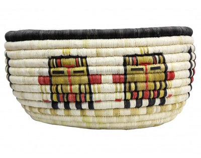 "Load image into Gallery viewer, Gladys Kagenveama, Hopi Coil Basket, Oblong Shaped, 6"" x 12"""