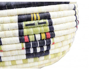 "Gladys Kagenveama, Hopi Coil Basket, Oblong Shaped, 6"" x 12"""